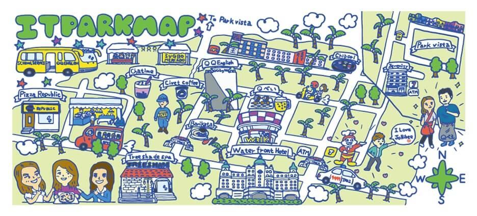 Mapa: Alrededores del campus It Park