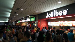 Jollibee at the airport