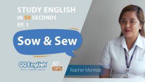 ความแตกต่างระหว่าง 2 คำศัพท์ที่ออกเสียงคล้ายกัน Sow และ Sew- ESL Confusing Words