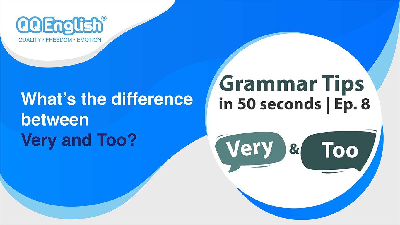QQEnglish 50 Seconds Grammar Tips